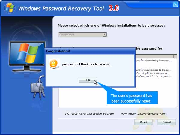 Tutorial to reset Administrator Password with Windows